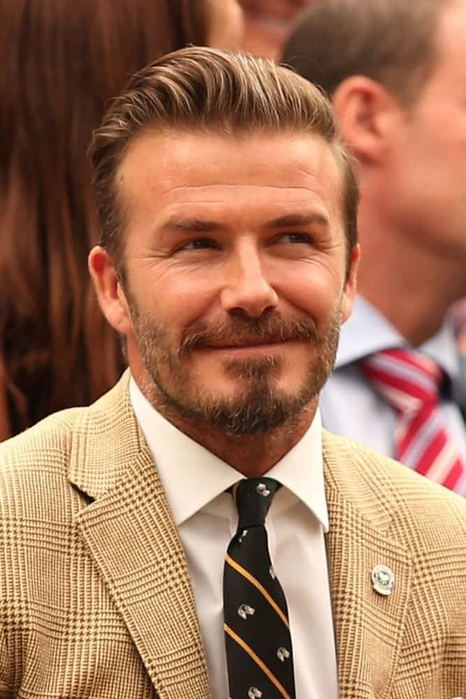David-Beckham-beard-wimbledon 8 Hottest David Beckham Beards to Get Attraction