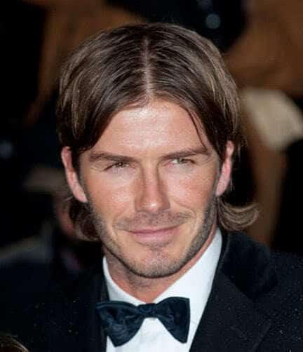 DavidBeckhamcentrparthairstyle 8 Hottest David Beckham Beards to Get Attraction