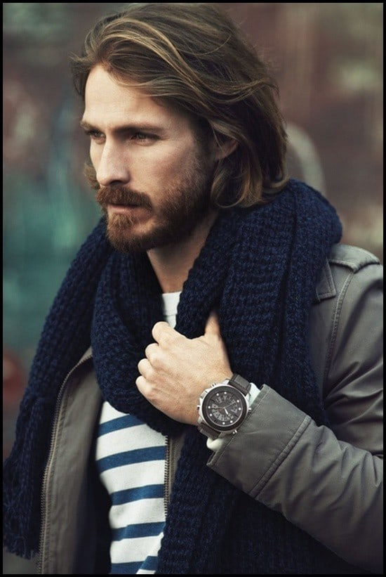 hot-beard-with-long-hair 160 Coolest Beard Styles to Grab Instant Attention [2020]