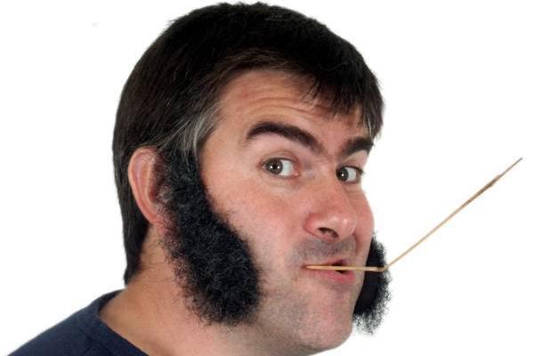 Sideburns beard style for men