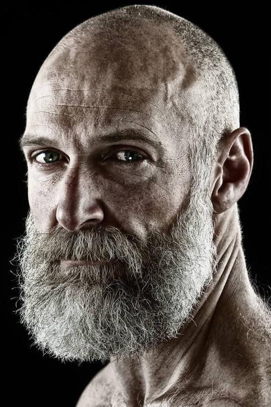 Bald Men with grown beard