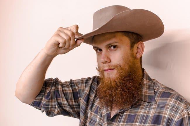 Rugged chin curtain beard