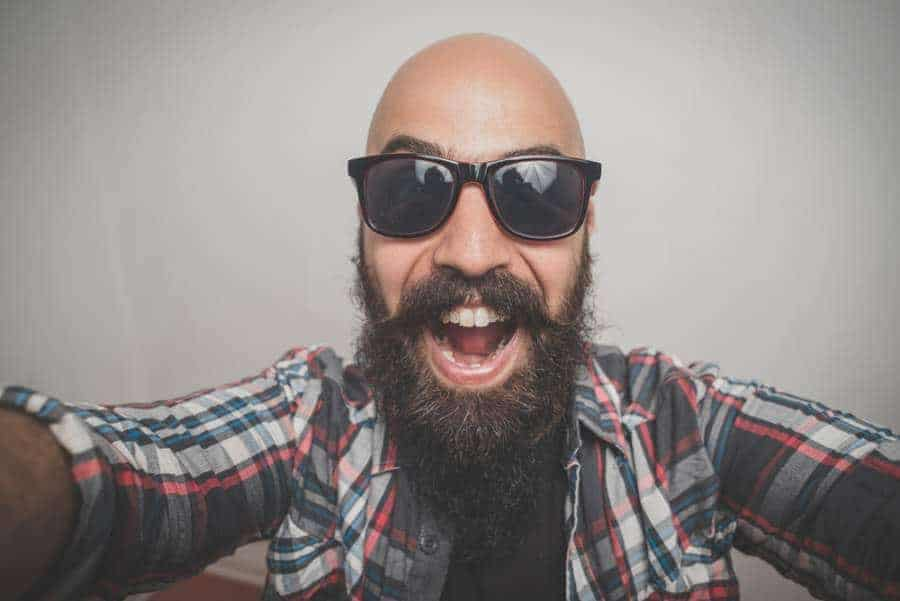 bald men with beard