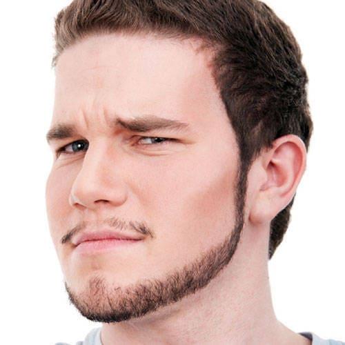 Chin curtain beard style