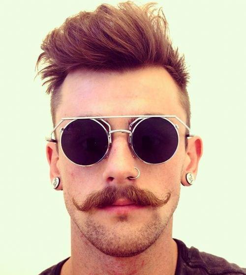 Awe Inspiring 20 Heroic Handlebar Mustache Styles To Rock 2017 Short Hairstyles Gunalazisus