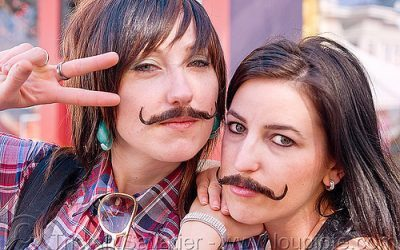 girls with mustache