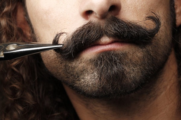 trim and size mustache line