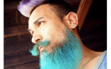men with colorful beard