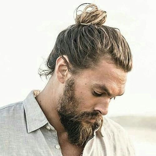 Thick-Man-Bun-Long-Beard 115 Sexy Long Beard Styles for Men