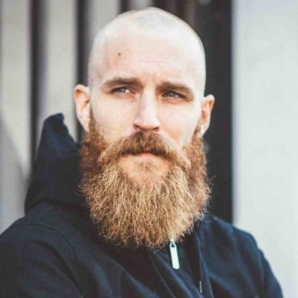 long-beard-bald-head-consistentwith-relaxing-at-home 115 Sexy Long Beard Styles for Men