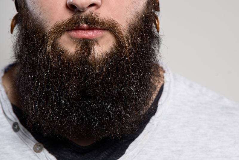 long-black-shiny-beard_2 115 Unbeatable Long Beard Styles for Every Man