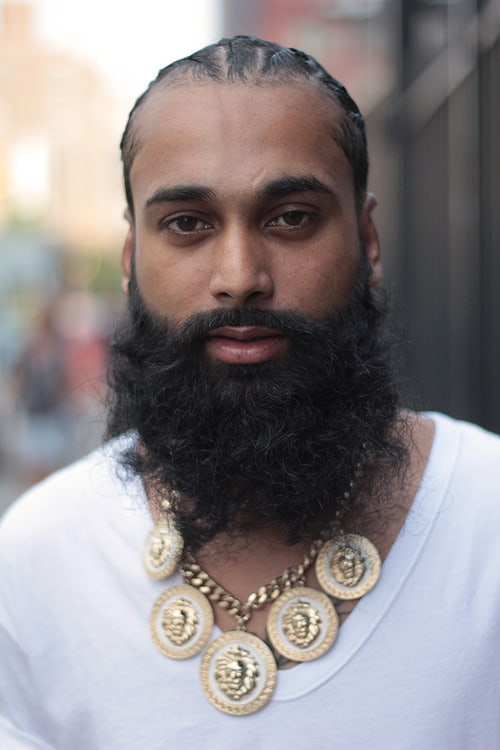 pendant-necklace-and-beard 70 Sexy Long Beard Styles for Men