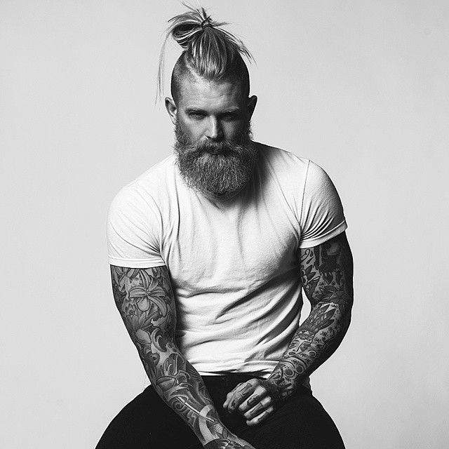 image003-1 20 Best Bun Hairstyles to Wear With Your Beard