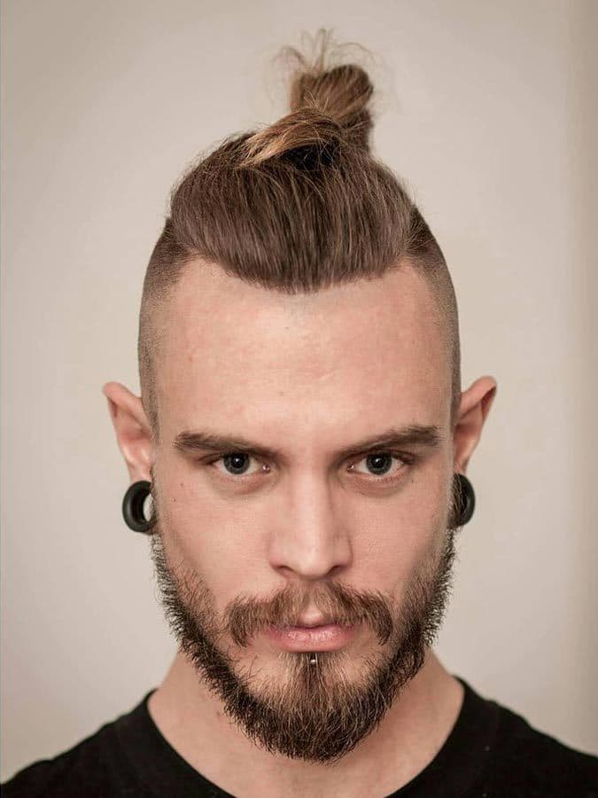 image007-1 20 Best Bun Hairstyles to Wear With Your Beard