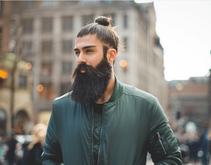 image012 20 Best Bun Hairstyles to Wear With Your Beard
