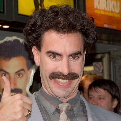 The-Borat 70 Hottest Mustache Styles for Guys Right Now