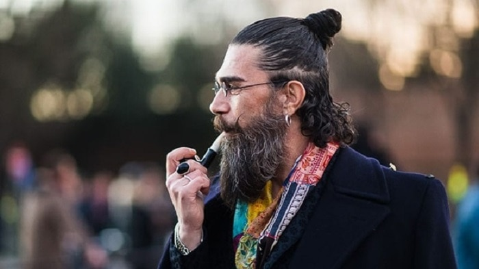 man-bun-and-beard-1 20 Best Bun Hairstyles to Wear With Your Beard