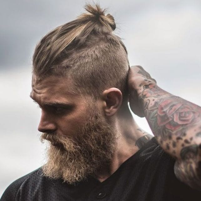 man-bun-and-beard-10 20 Best Bun Hairstyles to Wear With Your Beard