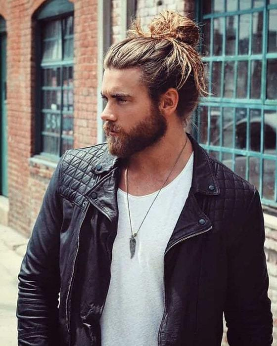 man-bun-and-beard-6 20 Best Bun Hairstyles to Wear With Your Beard