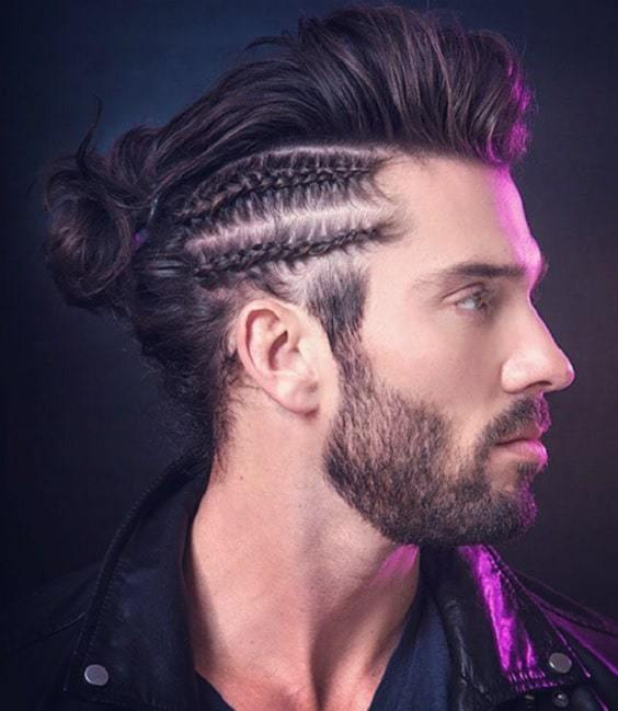 man-bun-and-beard-8 20 Best Bun Hairstyles to Wear With Your Beard