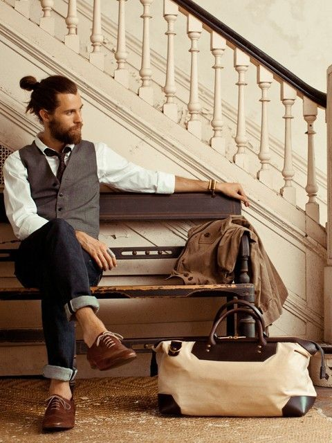 man-bun-and-beard-9 20 Best Bun Hairstyles to Wear With Your Beard