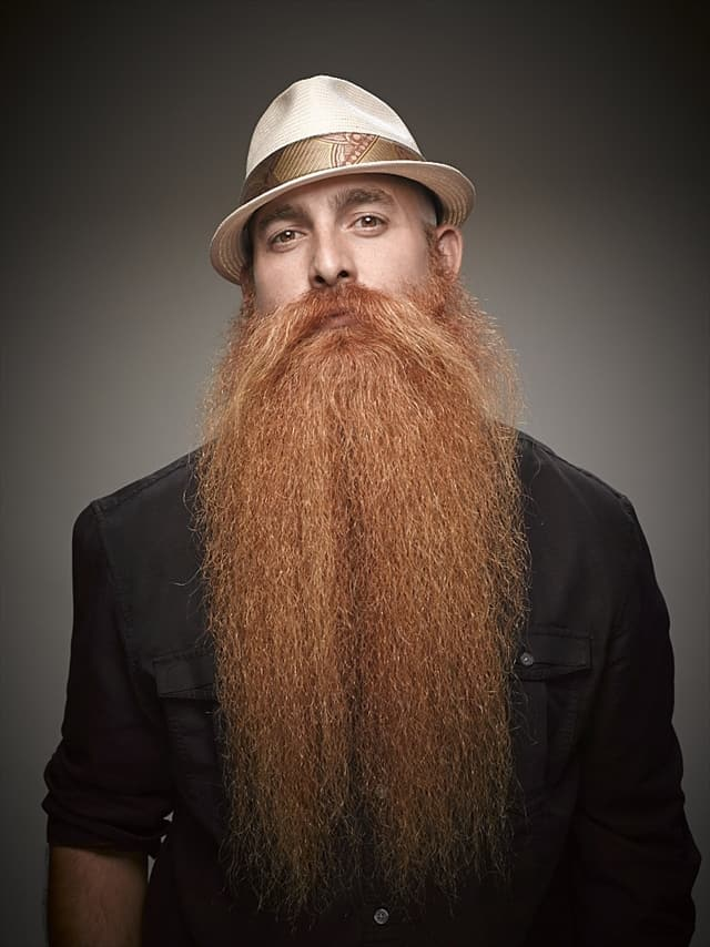too long beard: trim it to avoid accident