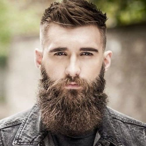 Full-Beard-with-Fade-High-Bald-Fade-Haircut-with-Thick-Long-Beard0908 Garibaldi Beard: 5 Styles to Copy in 2019