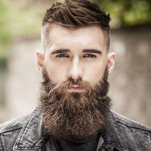 Full-Beard-with-Fade-High-Bald-Fade-Haircut-with-Thick-Long-Beard0908 Garibaldi Beard: 5 Styles to Copy in 2020