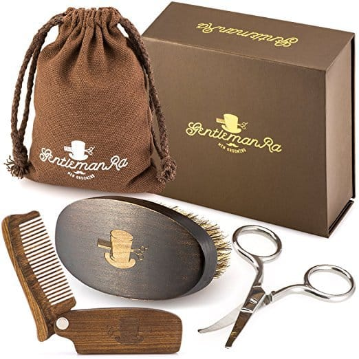 Gentleman-RA-Beard-Care-Grooming-Kit-For-Men Top 3 Beard Brush Kits in 2021: User's Review & Ratings