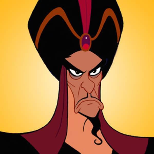 Jafar mustache from Aladdin