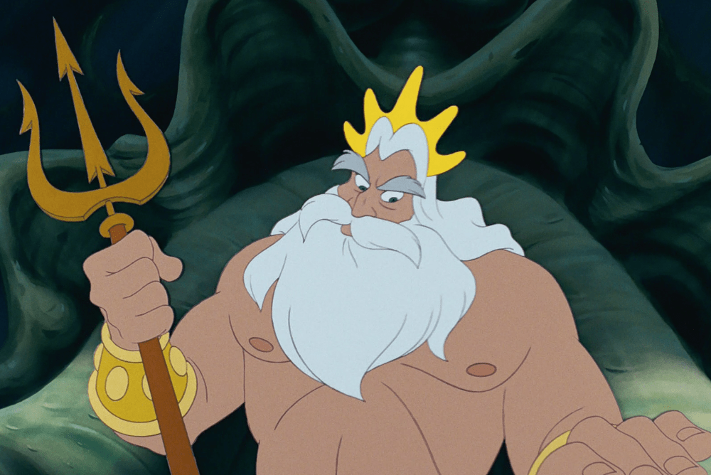 King-Triton-Peeved-The-Little-Mermaid 10 Most Popular Cartoon Characters with Playful Beards