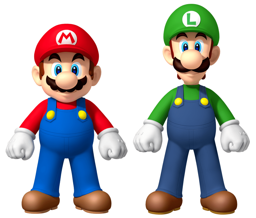 Mario__Luigi 10 Most Popular Cartoon Characters with Playful Beards