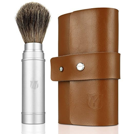 Miusco-Badger-Hair-Shaving-Brush-Travel-Kit-with-Leather-Case Top 12 Shaving Brushes: Buying Guide and Review