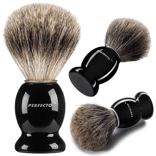 Perfecto-100-Pure-Badger-Shaving-Brush Top 12 Shaving Brushes: Buying Guide and Review