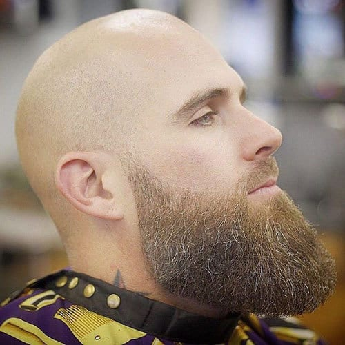 Shaved-Head-For-Balding-Men How to Fade Your Beard The Right Way [5 Examples]