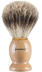 Shaveway-Pure-Badger-shaving-brush-178x300 Top 12 Shaving Brushes: Buying Guide and Review