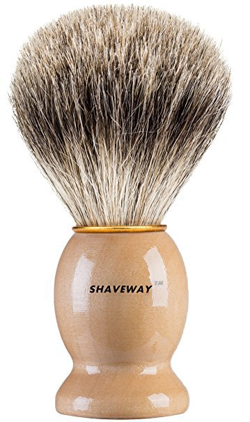 Shaveway-Pure-Badger-shaving-brush Top 12 Shaving Brushes: Buying Guide and Review