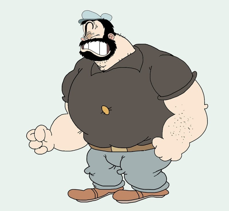 bluto 10 Most Popular Cartoon Characters with Playful Beards