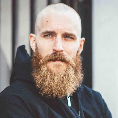 beard with bald head