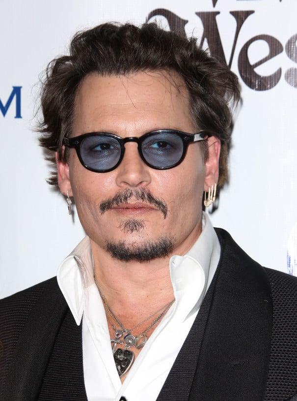 Johnny Depp extra short beard