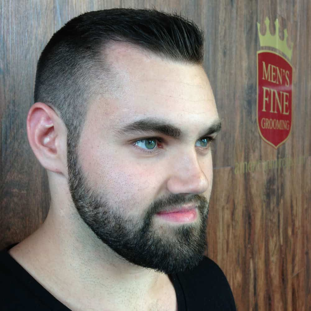 men-fade-haircuts-pictures-ivy-league-haircut-beard How to Fade Your Beard The Right Way (15 Examples)