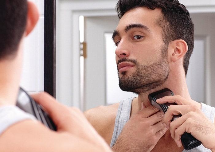 how to trim beard neckline