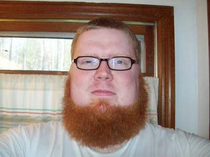 henna dyed dutch beard