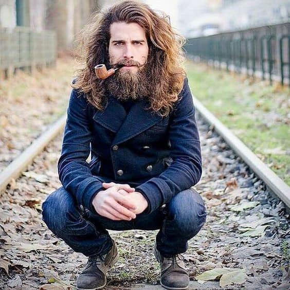 withlonghair-1 20 Best Beard Styles for Guys with Long Hair