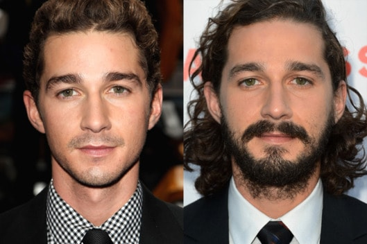 29-shia-labeouf-beard-split.w529.h352 10 Men With Beards Vs Without Beard: Unveiling the  Change