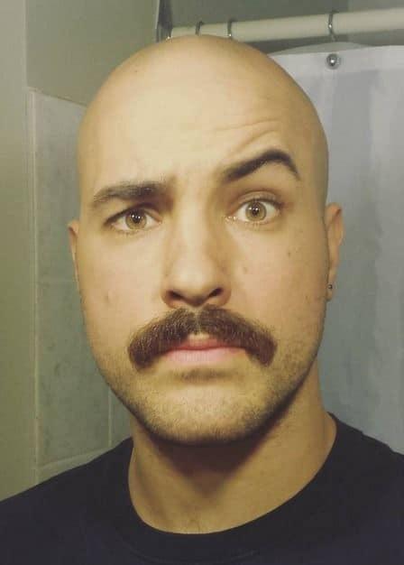 520987f227475171cb71e5fba080184e How A Bald Guy Should Wear A Mustache + Top 5 Styles