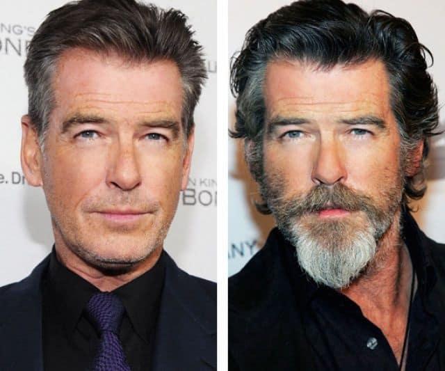 beard look VS without beard look