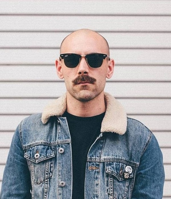 Beard-Styles-for-Bald-Men-Bald-Men-with-Beards-10-1 How A Bald Guy Should Wear A Mustache + Top 5 Styles