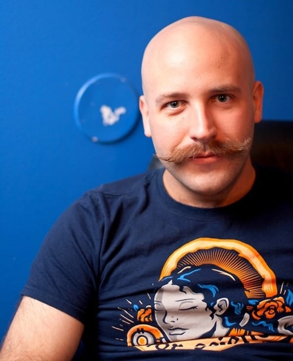 Beard-Styles-for-Bald-Men-Bald-Men-with-Beards-5 How A Bald Guy Should Wear A Mustache + Top 5 Styles