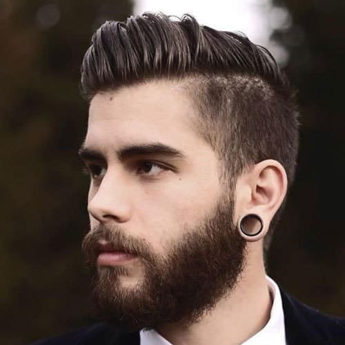 Comb-Over-with-Taper-and-Beard How to Taper A Cool Beard + Top 5 Styles to Get Right Now